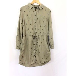 Max Jeans Army Green Button Front Dress-Medium
